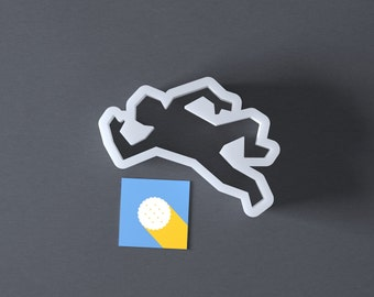 Crime scene cookie cutter, dead person, dead body, homicide