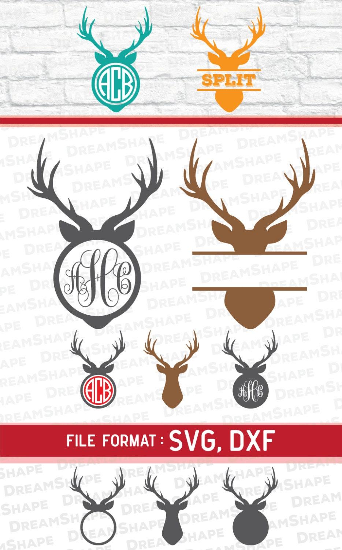 Antler Svg Files Reindeer Svg Files Deer Svg Vinyl Cutters
