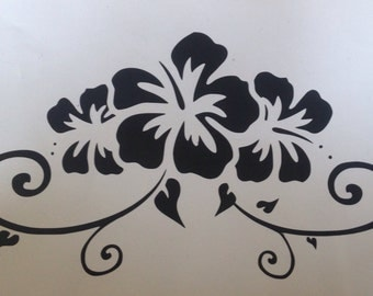 Decorative flower wall vinyl