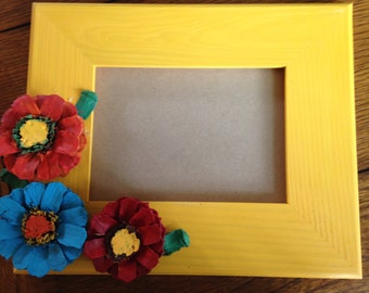 Colorful floral picture frame