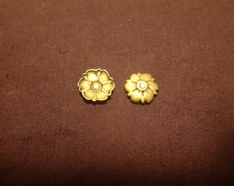 Brass Floral Bump out or Embellishment BRFB2