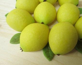 Marzipan Lemons (9) - 3D - marzipan lemon cake decorations - lemon cake decoration idea - marzipan fruits - fondant lemon - lemon candy