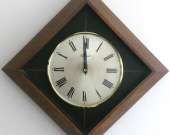 1950s German Wall Clock (Mid-Century)