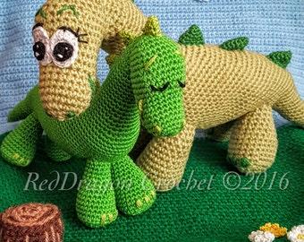 Amigurumi Mama and Baby Dinosaurs - Crochet Pattern