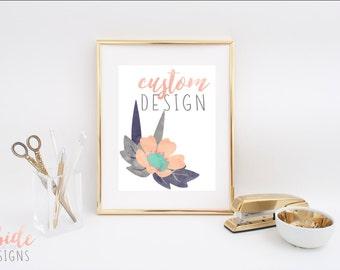 Custom Design // Digital Print or Gift Tags