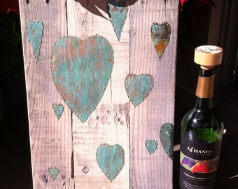 Copper and pallet wood Valentine