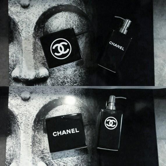 Chanel Inspired Vanity Bathroom Set Soap By Girlfrienddecor