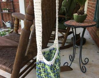 Boho Crochet Jungle Green Market Bag