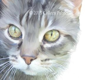 Tabby Cat Meeko Art Print