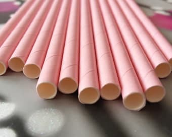 Lot of 12 pink straw