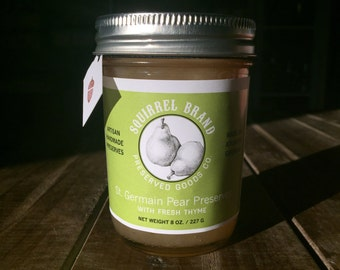 St. Germain Pear Preserves with Fresh Thyme