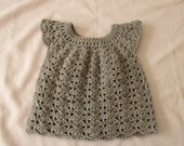 Crochet Baby / Toddler's Shell Stitch Dress Written Pattern
