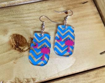 Chevron Mason Jar Earrings
