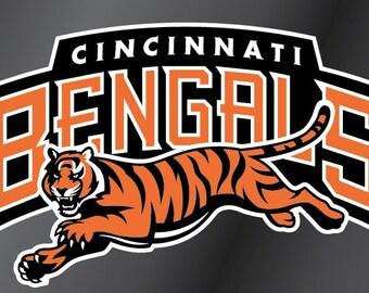 Cincinnati Bengals Vinyl Decal Sticker