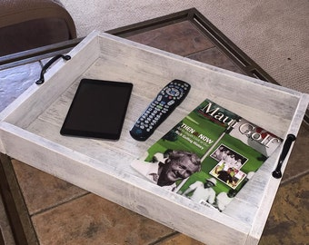 "Rustic Serving Tray 22.5"" x 15.5"" x 3.5"""