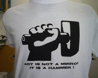 ART IS an hammer t shirt Majakovskij urss cccp comunism