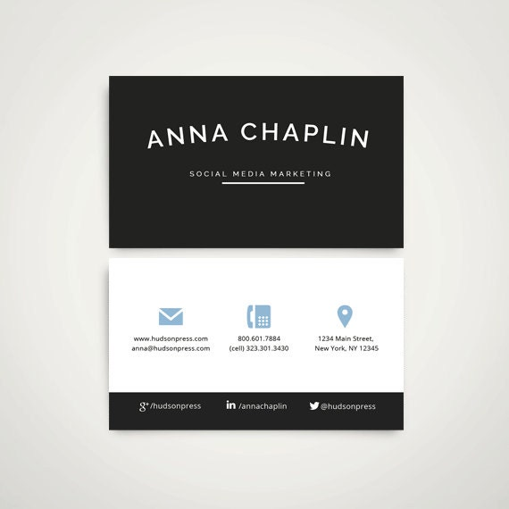 business card design digital download template ms word