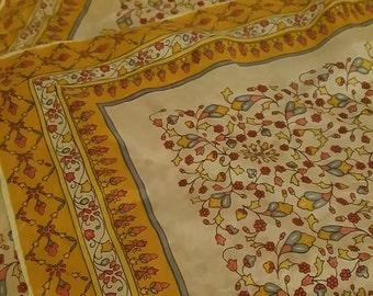 Silk scarf with beautiful pattern. Handkerchief, bandanna or scarf.