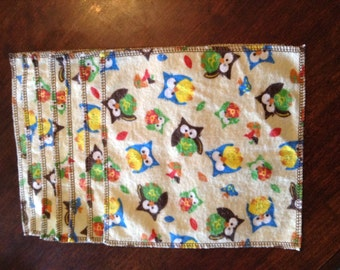 Seven pack cloth diaper wipes