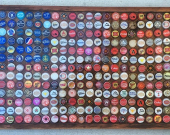 American Flag Bottle Cap with Resin Finish