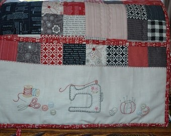Embroidered Sewing Machine Cover Pattern