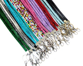 LANYARD BLING DIAMONTE rhinestone strap neck id card key badge holder
