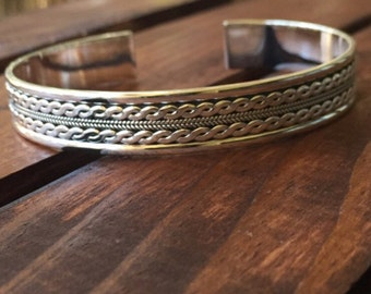Sterling Silver detailed bracelet Cuff