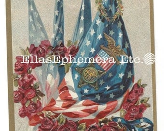 c1910 Patriotic Postcard HONOR THE BRAVE W/Flags, Flowers, Star Spangled Banner, Memorial Day, Decoration Day Unused By Tuck