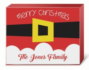 Personalized Santa Holiday Print (Canvas or Metal)