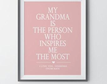Christmas Gifts for Grandma Grandma Gifts Grandmother Gifts Personalized Grandma Gift Gifts for Grandma Grandma Birthday Gift For Grandma