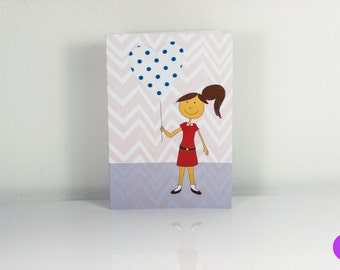 "Fabric card ""Heart"" with envelope"