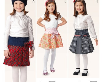 Burda 9403, Girls Skirt, Sewing Pattern, New, Sizes 3-8, Gathered Skirt, Pleated Skirt, Layered Skirt, Little Girls Pattern, Toddler Pattern