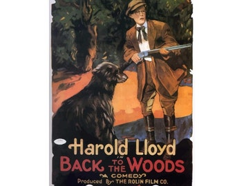Back to the Woods (1919) Vintage Canvas Movie Poster Giclee Art Print Gallery Wrapped
