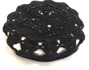 Womens crochet kippah