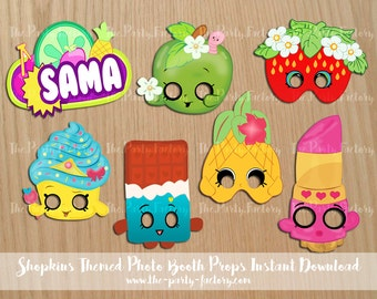 Shopkins Themed Photo Booth Props Instant Download Printables
