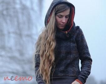 """Wool hoodie """"Wood"""""""