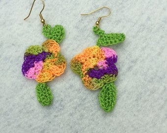 Crochet earrings...multi mingle II