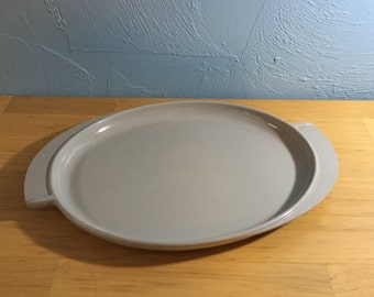 Vintage 1950s Boonton serving platter, gray melamine melmac retro midcentury