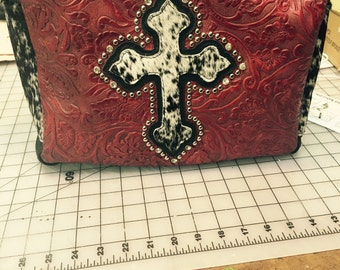 Leather purse hand made