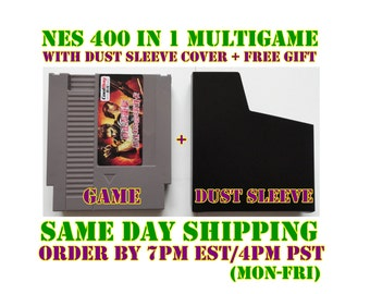 400 in 1 NES Nintendo Multicart Multigame WITH Dust Sleeve Cover