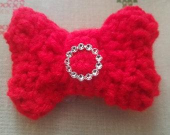 crochet Bow hair clip