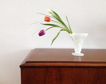 Vintage Milk Glass Vase