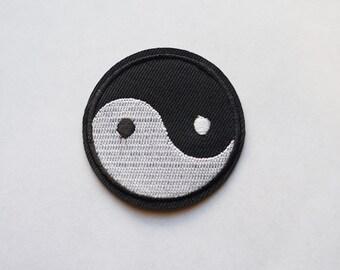 2 inches Tai Ji Yin Yang Embroidered Iron on Patch Chinese Symbol ZEN DIY