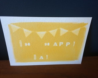 Gum print postcard