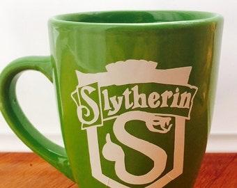 Harry Potter Themed Slytherin Coffee Mug, Harry Potter, Hogwarts, Slytherin