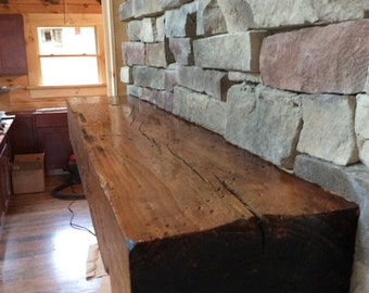 "Distressed Timber Fireplace Mantel 48""- 72"""
