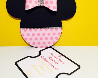 Invitation Minnie Mouse handmade