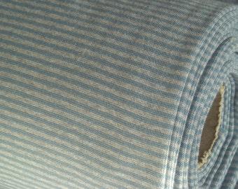 Striped rib smooth, garda grey mottled, GOTS