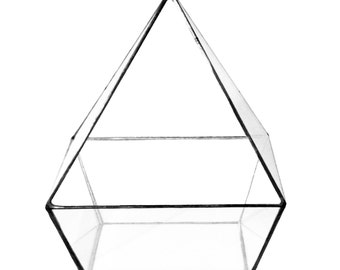 "Geometric Glass Terrarium ""Pyramid"" height=18cm"