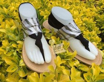 elastic Flip Flop Sandals